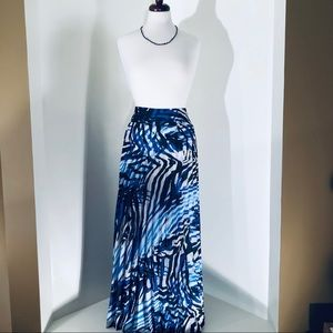 Chico Maxi pleated multicolored skirt; size 3